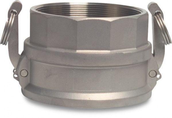 Camlock F-part with female thread, type D