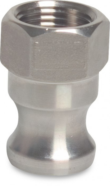 Camlock M-part with female thread, type A