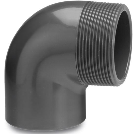 Profec Elbow 90° PVC-U glue socket x male thread 10 bar