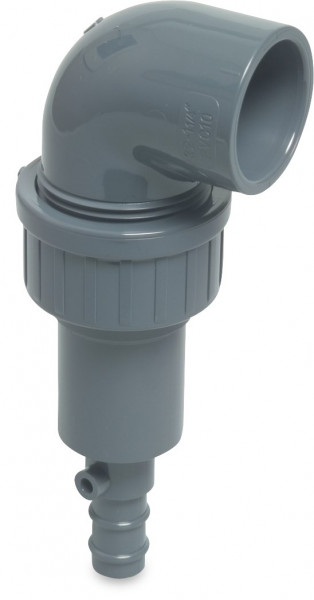Profec Drain valve with spring with elbow 32 mm
