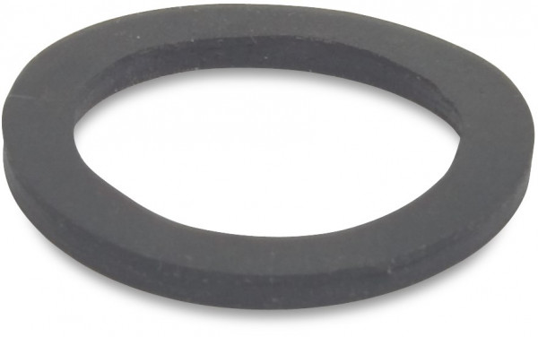 Rubber sealing ring for threaded end cap