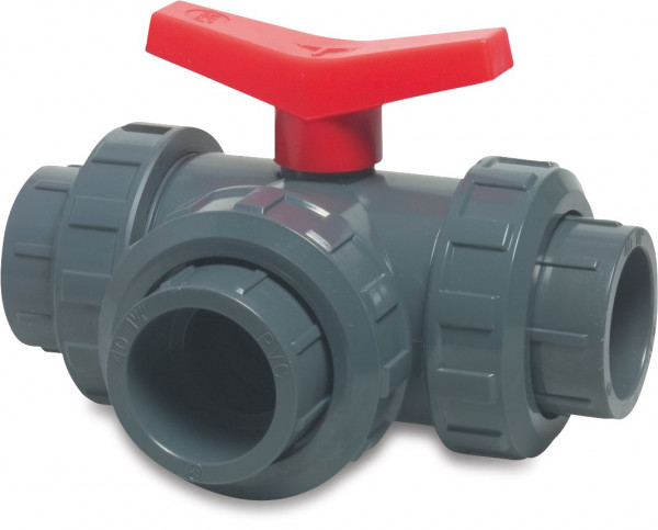 3-way T-bore ball valve