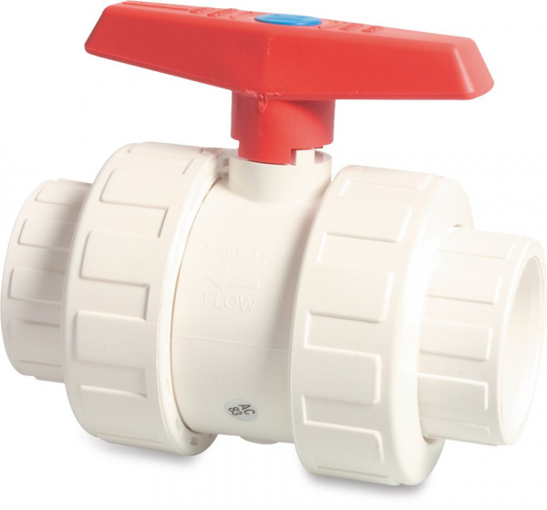 Mega Ball valve with double union, type imperial 2000