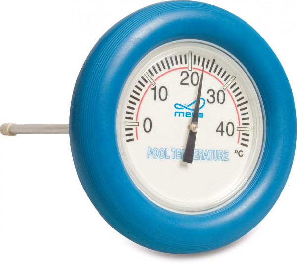 MegaPool floating round thermometer