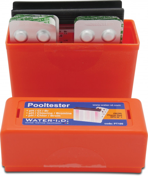 Pool-I.D. Pooltester for the measurement of pH- and Chlorine or pH- and Bromine values